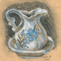 Cream pitcher from life by AmyVanHym