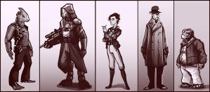 Dieselpunk Aliens by Ineedascotch