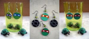 TMNT Mix and Match earrings by MyrcurysToybox