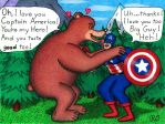 The Grizzly Bear Loves the Super Soldier by WalterRingtail