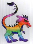 Rainbow dragon dog by NightFever100