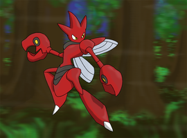 Favourite Steel-type Pokemon: Scizor by Kumata