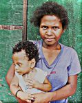 Aeta mother by bum23