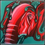 Elephunt in Gouache by RalphPlop