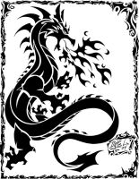 Dragon tattoo by siekfried