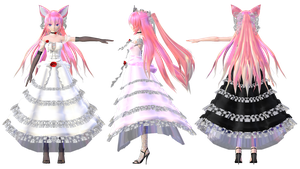TDA Luka Lace Dress Ver2.5 DL Models by HestiaSama
