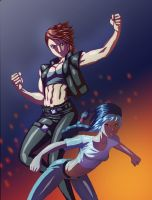 Thetis and Fiona colored by DaigotheBeast