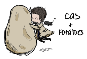 Cas and Potatoes by musicalirony