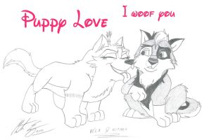 Bela and Kitara - Puppy Love by MortenEng21