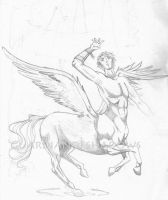 Winged Centaur by GuardianOfShadows