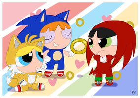 PPG as Sonic Heroes by Blue-Chica
