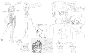 Eridan sketch dump 2 by Tespeon