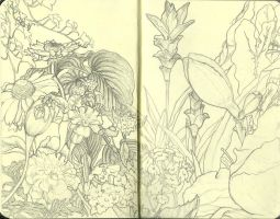 Moleskine Garden by bornsoulless