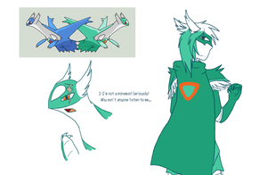Character Concept - Evenos (Latios) by Hollowed-Chimera