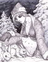 The Snow Maiden by dpdagger