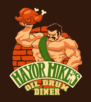 Comish - Mike Haggar's Diner by ghostcharmer