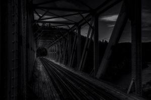 ..railway bridge... by Espen-Alexander