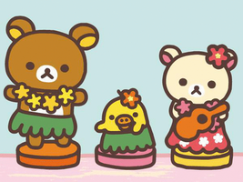 Rilakkuma Hawaii by YellowKiiroitori