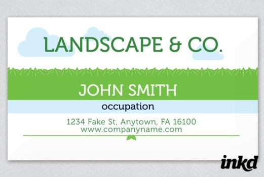 Green Leaves Business Card by inkddesign