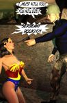 Rock and Wonder Woman by CaptainZammo