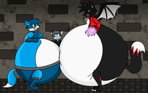 Battle of the Bloated by dragovian15