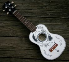 painted uke by TheLamentation