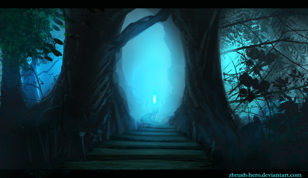 The Winding Path speed paint by Zbrush-Hero