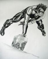Nightwing Drawing by cusT0M
