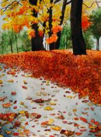 Fall in Watercolor by ratfactor