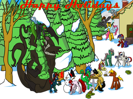 Happy Holidays to all My Friends! by InvaderJoe1