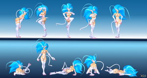 Felicia Poses Pack 3 by NekoHybrid
