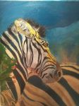 coloured zebra by HumanOfConfusion