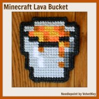 Minecraft - Lava Bucket by VelvetKey