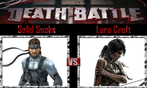 Solid Snake vs Lara Croft by SonicPal