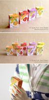 1/3 Scale Juice Boxes by whitefrosty