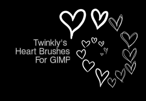 GIMP Heart Brushes by MsPastel