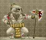 Pug Viking with Sockzombie by Glorifin