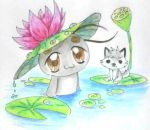 water lily on my head by Charming-Manatee