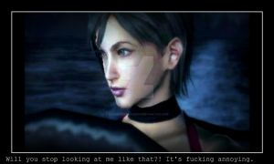 Ada is mad at Leon by ResidentEvilLover100
