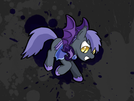 Bat pony, Splash screen style by ProsaurusRex