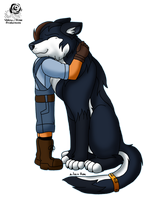 The Remembered: Wolf Cuddles by Aileen-Rose