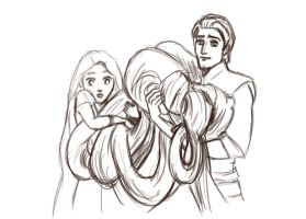 Tangled Lineart by ChristyTortland