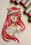 Lucy - Elfen lied - Copic Markers by Nasuki100