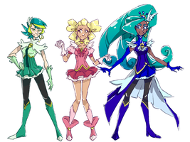 Fly Feather Precure by hielorei