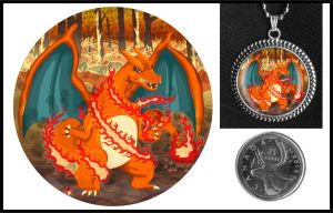 Inferno Charizard Necklace by iceSylum