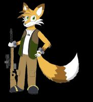 Strafe the Fox- shading by milesprower99