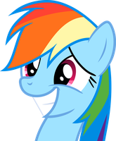 Rainbow Dash Grin by JackSpade2012