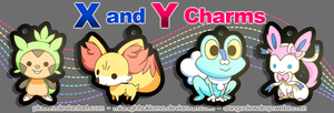 Pokemon X and Y Charms by Pluffers