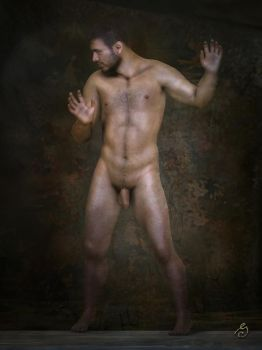 standing male nude 2 by JOSEGEE12