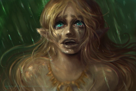 Zelda Crying: Breath of the Wild by MyEmeraldTears